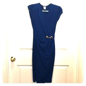 Hot! Cache blue wrap dress size small